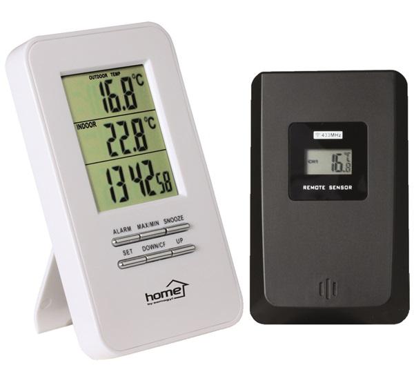 HOME HC 11 ébresztőóra vezetéknélküli külső és belső hőmérővel ... 3b7d24a1fa