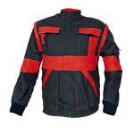 Kabát fekete/piros Max 44