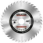 Kreator körfűrészlap 130 mm 40 fog fa  KRT020403