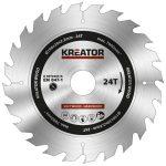 Kreator körfűrészlap 190 mm 24 fog fa  KRT020416