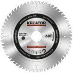Kreator körfűrészlap 190 mm 60 fog fa  KRT020417
