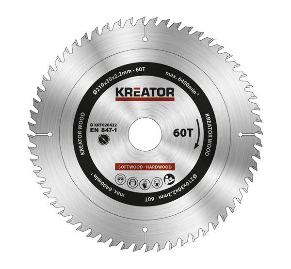 a95c06e36f Kreator körfűrészlap 210 mm 60 fog fa KRT020422 Barkácshiper webáruház