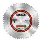 Kreator körfűrészlap 210 mm 60 fog MULTI-USE  KRT020504