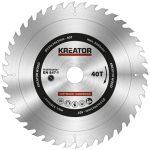 Kreator körfűrészlap 254 mm 40 fog fa  KRT020427