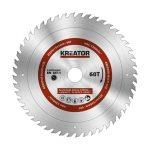 Kreator körfűrészlap 254 mm 60 fog MULTI-USE  KRT020505
