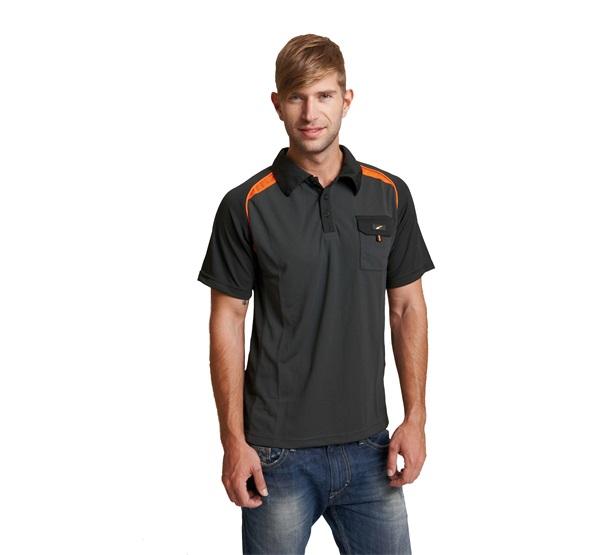 Póló fekete nyakgombos EMERTON XL   24195f5234