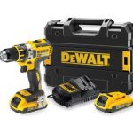 Dewalt DCD796P2-QW akkus kefe nélküli kompakt ütvefúró-csavarozó készletben 18V XR+ koffer