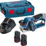 Bosch kék GHO 12V-20 akkus gyalu 12V 2x3,0Ah+koffer(06015A7001)