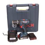 Bosch kék GSB 18-2-LI Plus akkus fúrócsavarozó 2x2,0Ah 18V+koffer ( 06019E7120 )