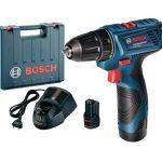 Bosch kék GSR 120-Li akkus fúrócsavarozó 12V+koffer (06019F7001)
