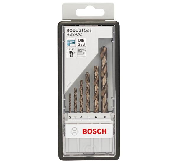 Bosch Robust Line HSS-Co fémfúró készlet 6részes 2-8mm (2607019924)