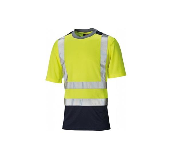 Dickies SA22081 Hi-Vis TWO TONE jólláthatósági sárga navy póló XL 320d264df6