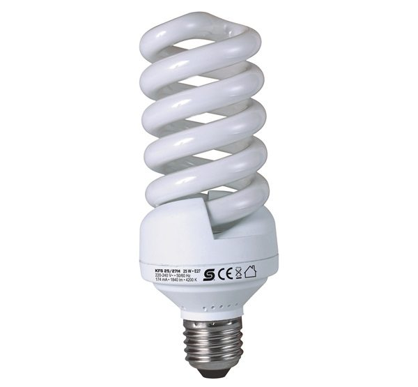 HOME KFS 25/27H energiatakarékos izzó spirál hidegfehér E27 25W