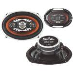"""SAL WRX 469 autóhangszóró-pár, 6x9"""" (nagy ovál), 4 utas, 4ohm, 260W"""