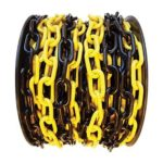 STR lánc műanyag sárga/fekete 6mm/25fm