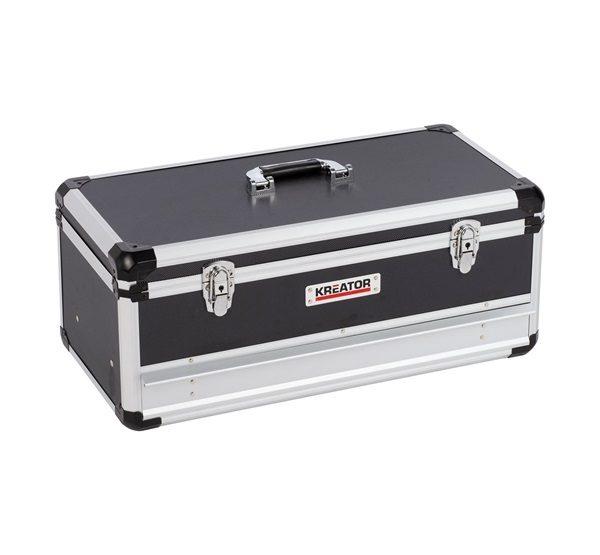 Kreator szerszámos koffer 620x300x255mm alu./fekete KRT640603B