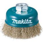 Makita D-39805 hullámos drótkefe csésze 100mm M14 sárgaréz
