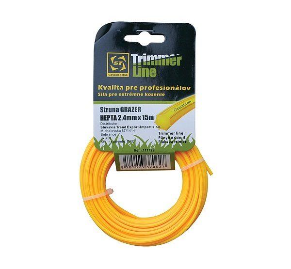STR damil Pro 2.4mm 15fm szögletes sárga HEX
