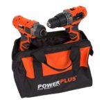 PowerPlus Dual Power akkus gépszett fúró-csavarozó/ütvecsavarozó 20V+töltő+2x20V akku POWDP1550