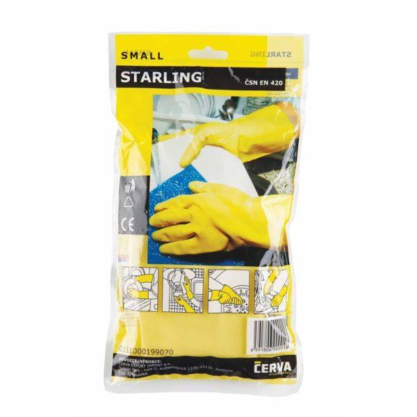 Védőkesztyű STARLING háztartási latex kesztyű – 10