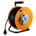 HOME HJR 10-50 kábeldob fém talppal, 4 aljzattal 50m 3X1,5mm2